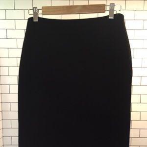Ann Taylor Triacetate Flare Skirt-Black, size 2